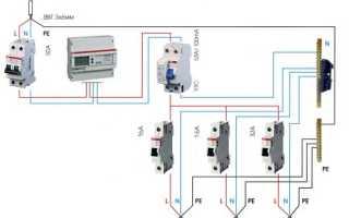 Последовательность подключения УЗО и автомата