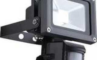 Подключение прожектора с датчиком движения через выключатель