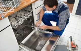Как демонтировать посудомоечную машину из встроенной кухни?