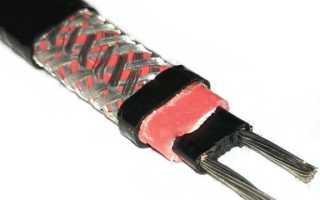 Подключение саморегулирующего греющего кабеля
