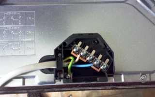 Схема подключения варочной панели electrolux 4 провода