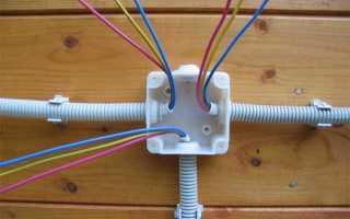 Подключение вводного кабеля к распределительному щиту