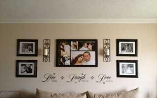 Как выделить фотообои на стене рамкой?