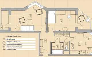 Перепланировка распашной двухкомнатной квартиры