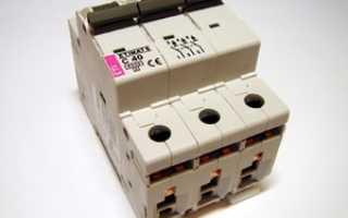 Расчет автоматического выключателя для трехфазной цепи