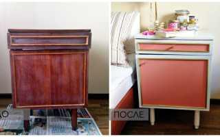 Как покрасить старый лакированный шкаф?