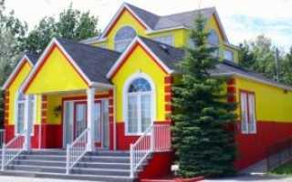 Покраска оштукатуренного дома снаружи