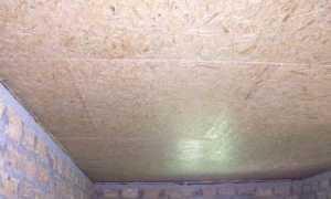 Чем покрасить потолок из ОСБ на даче?