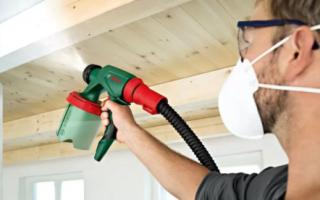 Как белить потолок побелкой поверх старой?