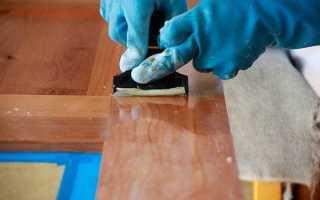 Как удалить лак с мебели без зашкуривания?