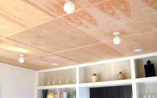 Фанера на потолок в деревянном доме толщина