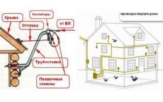 Каким кабелем подключить дом от столба