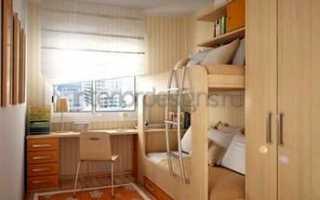 Правила расположения мебели в узкой детской комнате