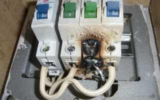 Как снять автомат с дин рейки