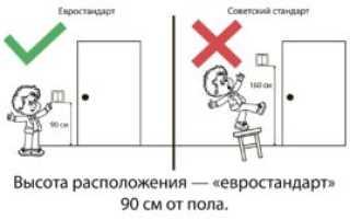 На какой высоте делать выключатели в квартире?