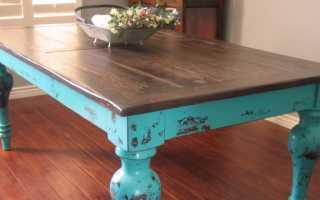 Как перекрасить деревянный стол в домашних условиях?