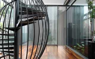 Виды винтовых лестниц внутри дома