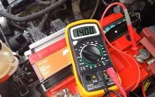 Проверка работы генератора на автомобиле мультиметром